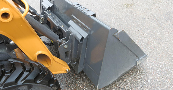 Bucket, loader arms and cylinders